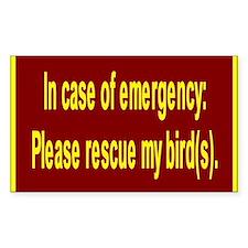 Save Birds Rectangle Decal