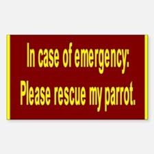 Save Parrot Rectangle Decal