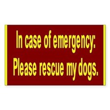 Save Dogs Rectangle Decal