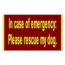 Save Dog Rectangle Decal