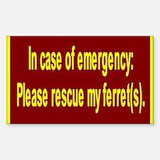 Save Ferret Rectangle Bumper Stickers