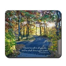 Seek his will... Mousepad