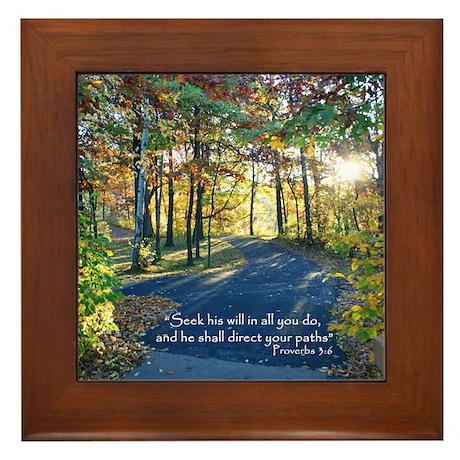 Seek his will... Framed Tile