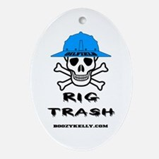 Oilfield Rig Trash Oval Ornament Oil Rig Gift