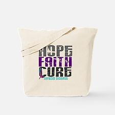 HOPE FAITH CURE Thyroid Disease Tote Bag
