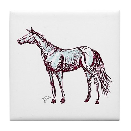 Horse Lover Tile Coaster