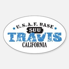 Travis Air Force Base Oval Decal