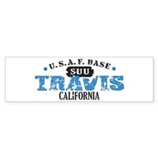 Travis Air Force Base Bumper Car Sticker