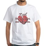Karl broke my heart and I hate him White T-Shirt