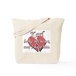 Karl broke my heart and I hate him Tote Bag