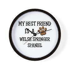 My best friend is a WELSH SPRINGER SPANIEL Wall Cl
