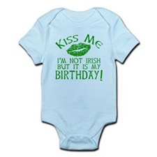 Kiss Me March 17 Birthday Infant Bodysuit