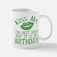 Kiss Me March 17 Birthday Mug