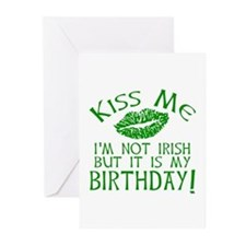 Kiss Me March 17 Birthday Greeting Cards (Pk of 10