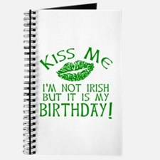 Kiss Me March 17 Birthday Journal