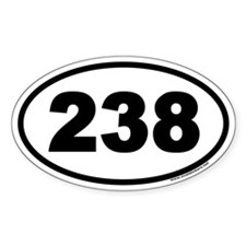 238 Euro Oval Decal