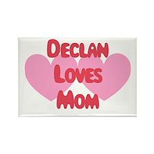 Declan Loves Mom Rectangle Magnet