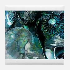 Ammonite Seascape Tile Coaster