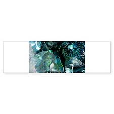 Ammonite Seascape Bumper Bumper Sticker