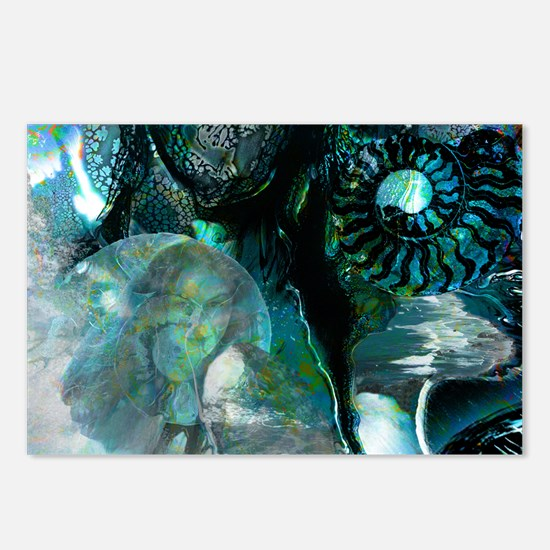 Ammonite Seascape Postcards (Package of 8)