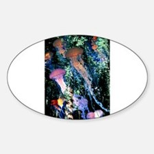 Jellyfish Forest Oval Decal