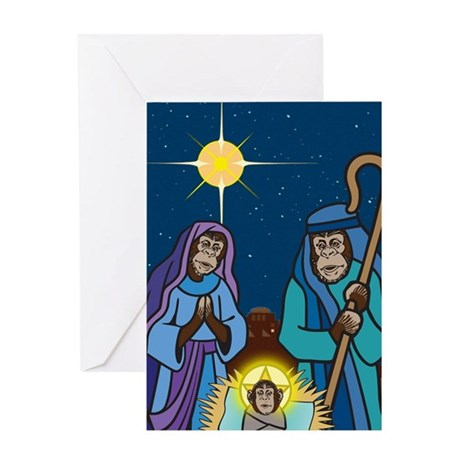 Chimpmas Nativity Greeting Card
