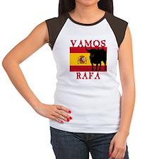 Vamos Rafa Tennis Women's Cap Sleeve T-Shirt