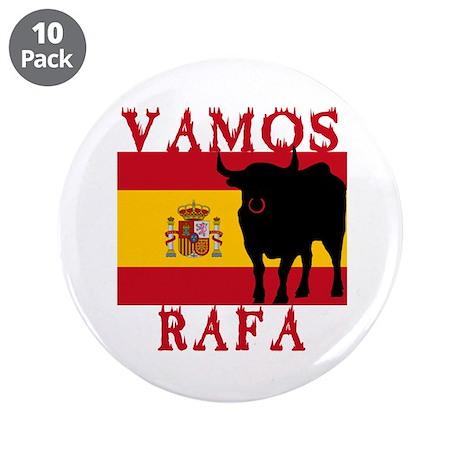 "Vamos Rafa Tennis 3.5"" Button (10 pack)"