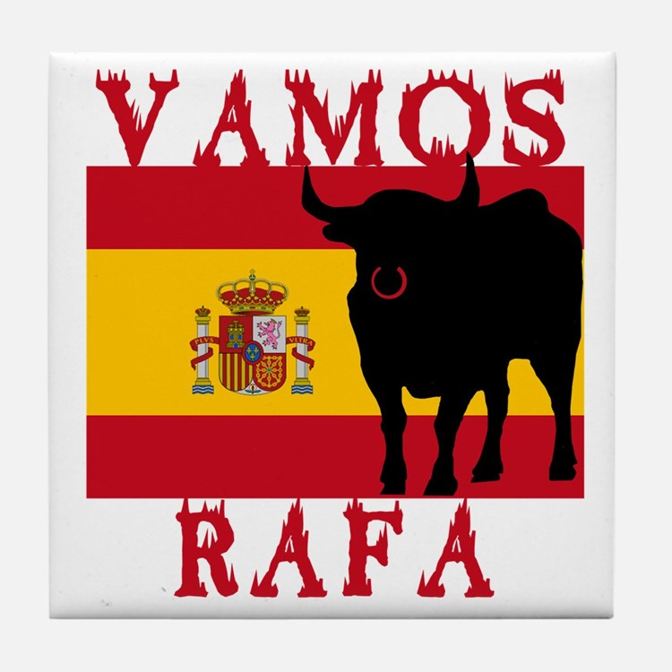 Vamos Rafa Tennis Tile Coaster