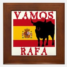 Vamos Rafa Tennis Framed Tile