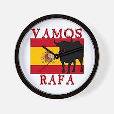 Vamos Rafa Tennis Wall Clock