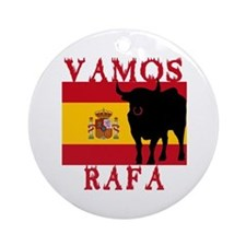 Vamos Rafa Tennis Ornament (Round)