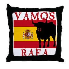 Vamos Rafa Tennis Throw Pillow