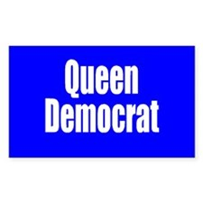 Queen Democrat Rectangular Decal