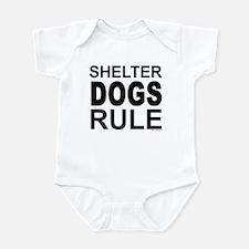 Shelter Dogs Rule Infant Bodysuit