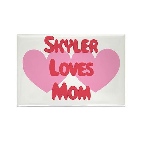 Skyler Loves Mom Rectangle Magnet
