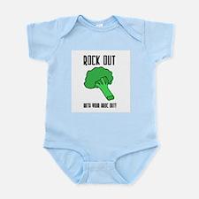 Broccolli vegetrian vegan Infant Creeper