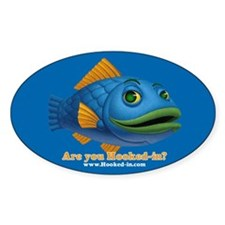 Are you Hooked-in? Oval Decal