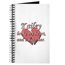 Kailey broke my heart and I hate her Journal