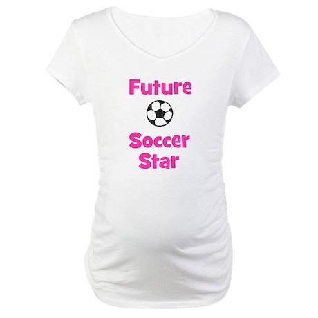 Future Soccer Star (pink) Maternity T-Shirt