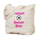 Future Soccer Star (pink) Tote Bag