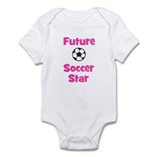 Future Soccer Star (pink) Infant Bodysuit