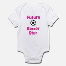 Future Soccer Star (pink) Infant Bodysuit