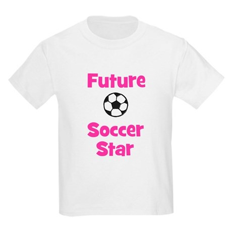 Future Soccer Star (pink) Kids Light T-Shirt