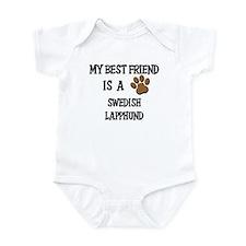 My best friend is a SWEDISH LAPPHUND Infant Bodysu