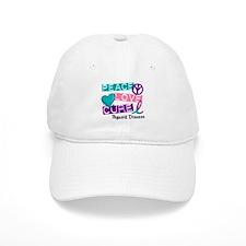 PEACE LOVE CURE Thyroid Cancer (L1) Baseball Cap
