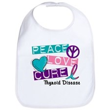 PEACE LOVE CURE Thyroid Cancer (L1) Bib