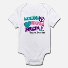 PEACE LOVE CURE Thyroid Cancer (L1) Infant Bodysui
