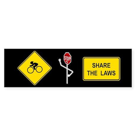 Share the Laws Bumper Sticker