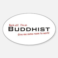 I'm a Buddhist Oval Decal